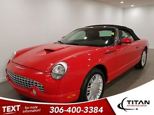 2002 Ford Thunderbird V8|Leather|Alloys|Convertible|Red