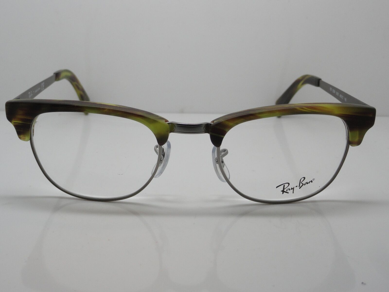 dec48c65a1 NEW Ray Ban RB 5294 5430 Green Havana Gunmetal Clubmaster 49mm RX Eyeglasses
