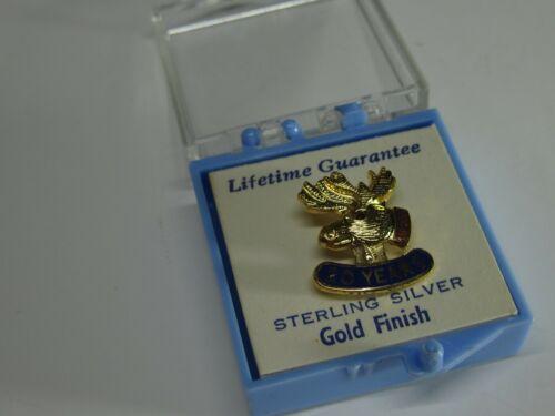 Loyal Order of Moose Sterling Silver 20 Year Pin
