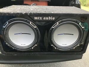 Dual 12 inch subwoofers