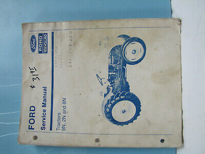 Ford 9n 2n And 8n Tractors Service Manual Good Used Condition