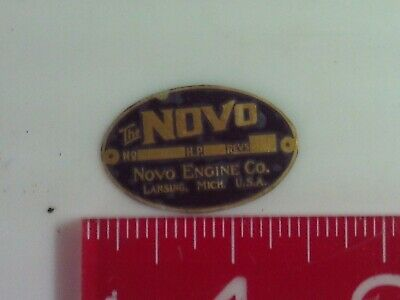 1//3 scale Novo Engine Brass Name Plate tag Nameplate