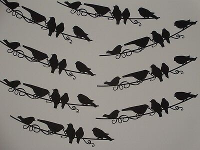 8 flourish birds on the wire scrapbook die cuts greeting card die cut