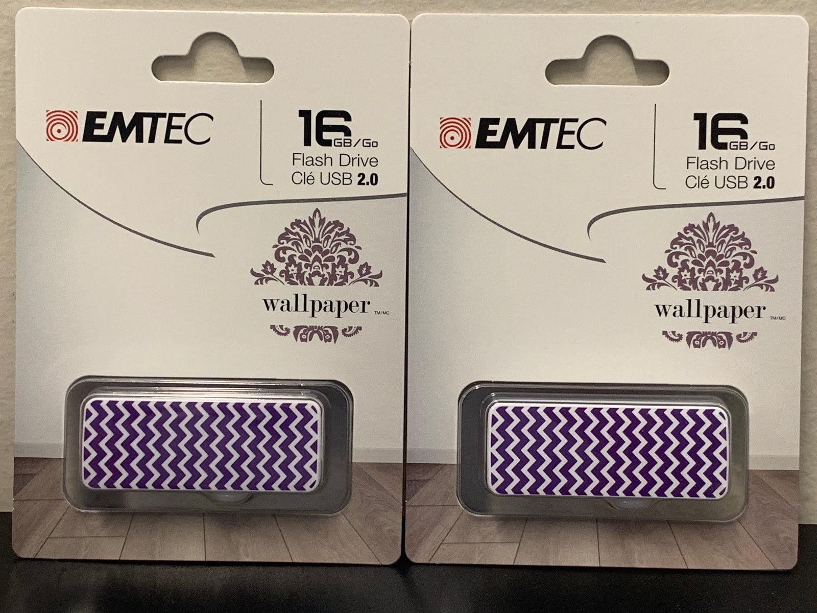Emtec 16GB USB 2.0 Flash Drive Wallpaper Purple Wave - ECMMD