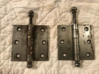 Pair Heavy Duty Rustic Steel 3 1/2