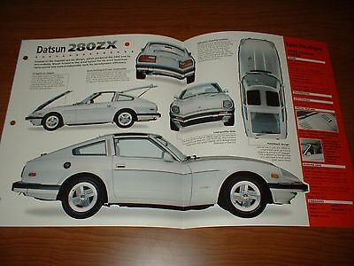 1979 DATSUN 280ZX SPEC SHEET BROCHURE POSTER PRINT PHOTO 79 78 80 81-83 280 Z ZX
