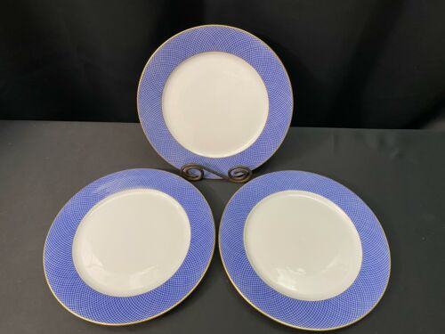 "Set of 3 ~ Block Spal  ""BLUE SKIES"" Portugal ~ Dinner Plates ~ 10 1/2"""