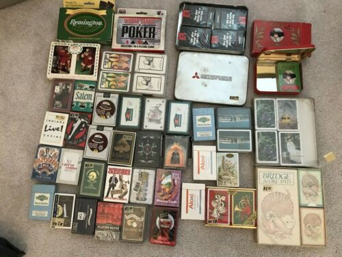Lot Of 50 Sealed Poker Playing Cards Coca Cola Congress Others Many Vintage