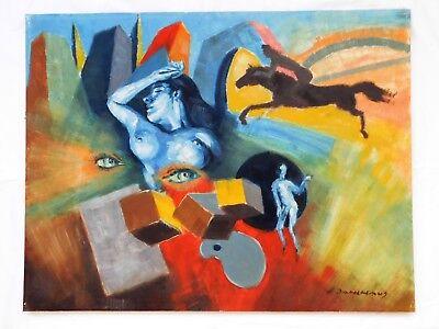 Öl / Papier / Holzplatte Signiert: H. Dahlhaus