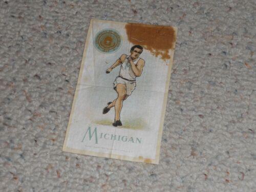 1910 Murad Tobacco Silk, University of Michigan Track, Runner, Running!!!