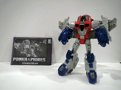 Transformers STARSCREAM voyager class POWER OF THE PRIMES with manual