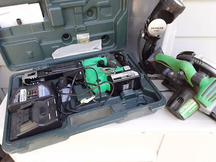 Dry wall screw gun , battery circular saw and light