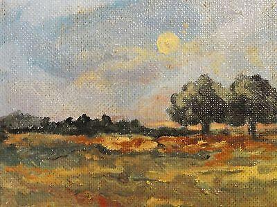 leider unsigniert - kleines Gemälde: LANDSCHAFTSPARTIE IM SOMMER online kaufen