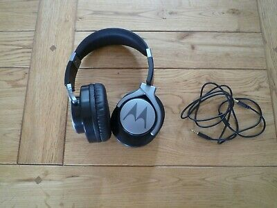 MOTOROLA PULSE MAX HEADPHONES - WITH HEADPHONE (SHURE) POUCH - GOOD PIECE OF KIT