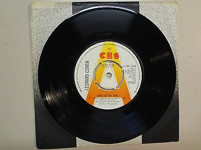 "LEONARD COHEN: Bird On The Wire-Tonight Will Be Fine-U.K. 7"" 1974 CBS S 2494 DJ"