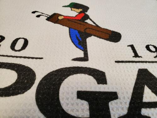 "PGA Championship Bethpage Black Waffle Golf Towel White/Black 36""x16"""