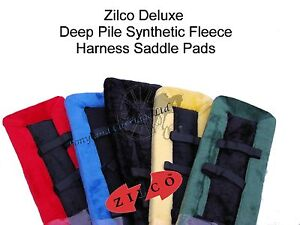 Zilco-Delux-Fleece-Driving-Harness-Saddle-Pads-Liners-5-Colours