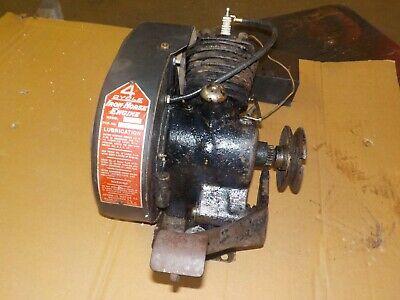 Vintage Kick Start Cast Iron Horizontal Shaft Iron Horse Mod X-305 Engine.