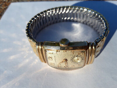 1940's Hamilton Emerson Wadsworth 980 Men's Watch 10K gold filled Speidel Band