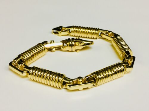 18k  Solid Yellow Gold Fashion Handmade Link Men