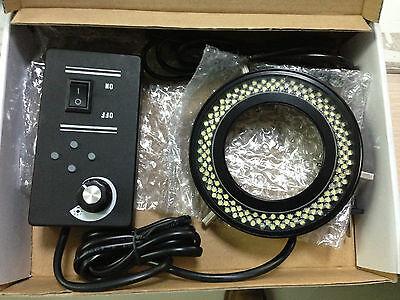 New 4-zone 144 Led Microscope Ring Light Illuminator For Meiji Emz Emf Emt Rz