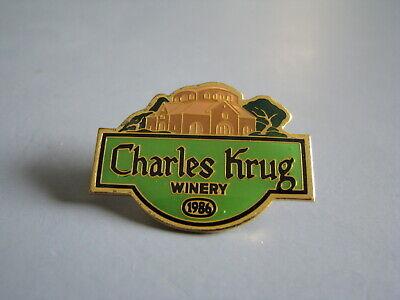 CHARLES KRUG WINERY BREWERY BREWERIANA LAPEL HAT PIN
