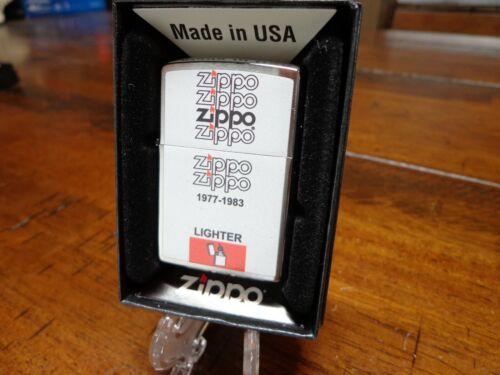 ZIPPO 1977-1983 BOX DESIGN ZIPPO LIGHTER MINT IN BOX