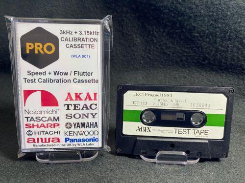 3kHz + 3.15kHz Speed + Wow / Flutter Professional Test Tone Calibration Cassette