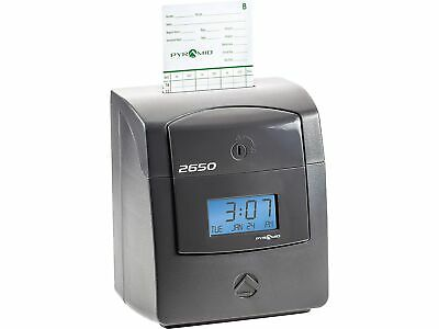 Pyramid Punch Card Time Clock System Charcoal 2650