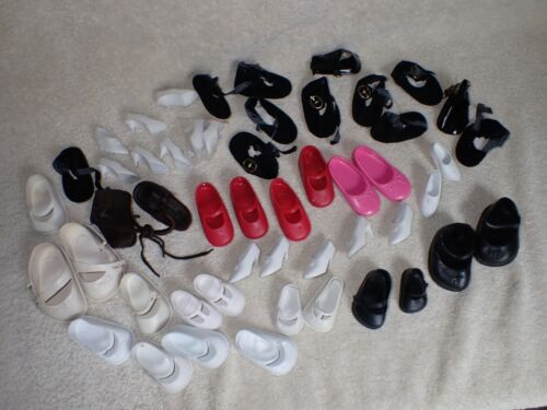Vintage Doll Shoes Parts & Pieces Lot