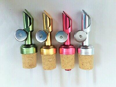 4 Colors Weighted Metal Pour Spouts For Olive Oil Vinegar Bottle Pourer Cruet