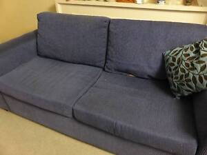 2.5 Seater Lounge in Blue Fabric Ashfield Ashfield Area Preview