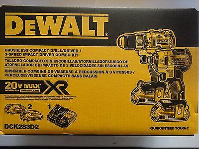 DEWALT DCK283D2 20V 20 Volt Li-Ion Brushless Repetition & Meaning Driver Set New NIP