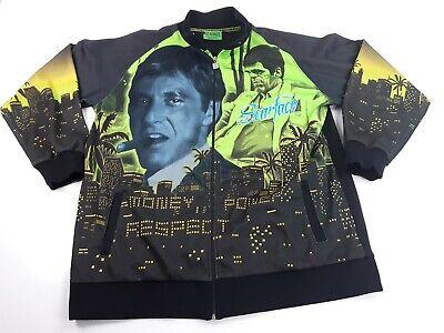 Scarface Clothing Co. Men's Warm up Track Jacket Tony Montana Pacino 3 XL