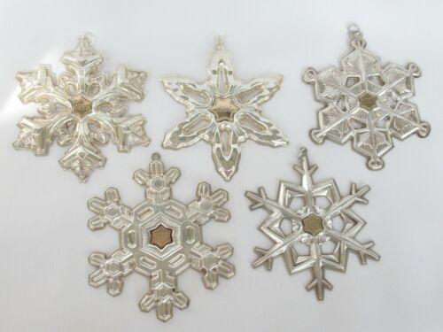 Gorham Sterling Silver 1985 1986 1987 1988 1989 Christmas Snowflake Ornament