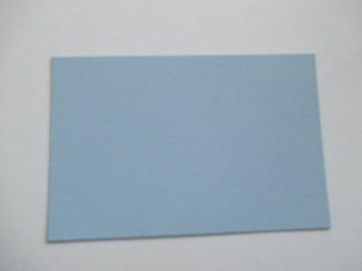50 Blue  letterpress printers cards. small