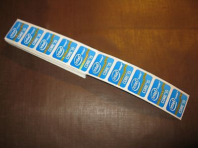 10 pcs Intel Core i5 Inside 15.5mm x 21mm Sticker Label Logo Decal Case Badge