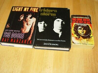 The DOORS  LOT of 3  Manzarek &  Densmore /  Sugerman Light My Fire, etc  1st ed for sale  Lanoka Harbor