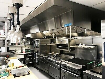 6 Commercial Kitchen Wall Canopy Hood Exhaust Fan And Supply Fan Package