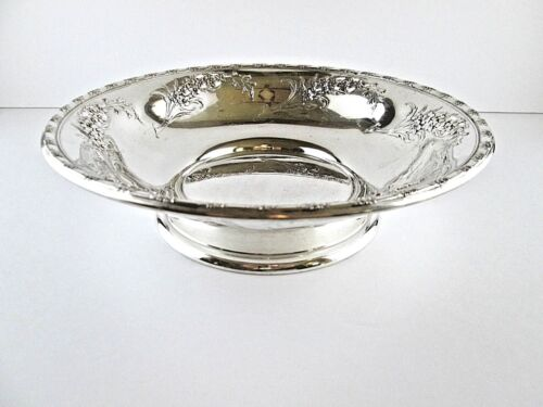 Wallace Sterling Silver Vegetable Bowl - LARKSPUR Pattern