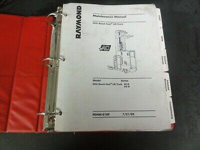 Raymond Ez-d Dz-d Easi Reach Fork Lift Truck Maintenance Manual Pdmm-0109