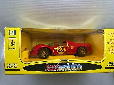 Jouef Ev olution 1:18 Die Cast Metal Car 1967 Ferrari 330 P4 Red