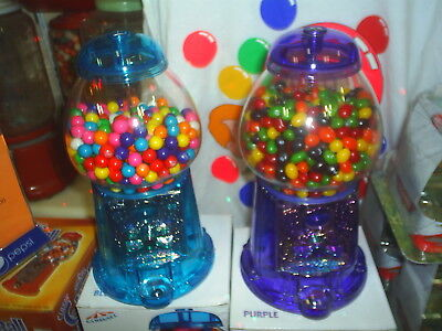 Nice gift Two for one money  Purple & Blue Acrylic  GumBall Machines lot of 2