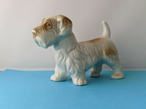 Vintage Ceramic SCOTTIE TERRIER DOG Figure MADE IN  JAPAN