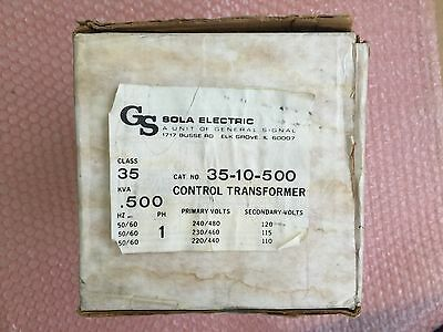 Lot Of 3 Sola Hevi-duty Electric 35-10-500 Control Transformer New In Box