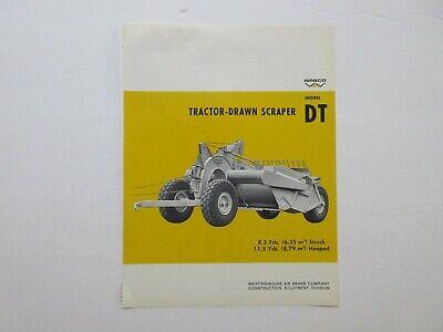 Rare Wabco Tractor-drawn Scraper Sales Sheet 1968