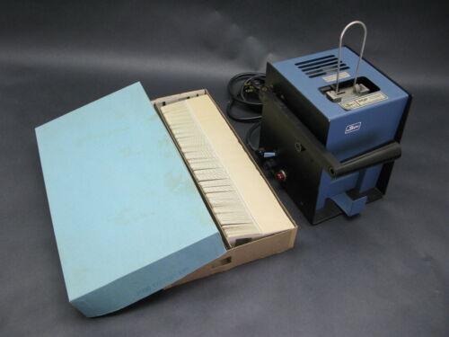 BYERS 100-160 Heat Press SLIDE Mounting Machine w/ Blank Slide Mounts 35MM