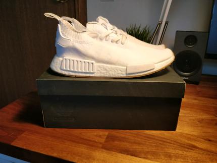 Adidas NMD White/Gum Mens Us 8.5