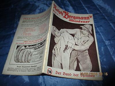 Ralph  Bergmann ' Abenteuer , Nr. 14 ,  Romanheft - Serie , Wien 1949
