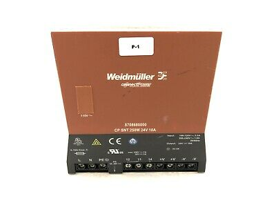Weidmuller 8708680000 Power Supply Unit Cp Snt 250w 24v 10a